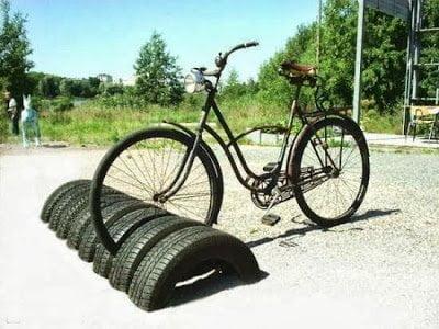 أفكار إعادة تدوير إطارات السيارات المستعملة 1