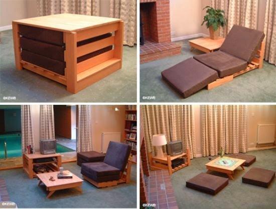 18- طاولة تصلح كسرير أو كغرفة جلوس