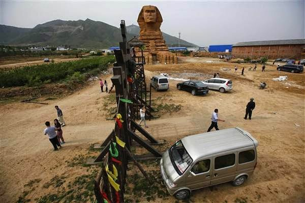 بناء كامل لأبو الهول في الصين