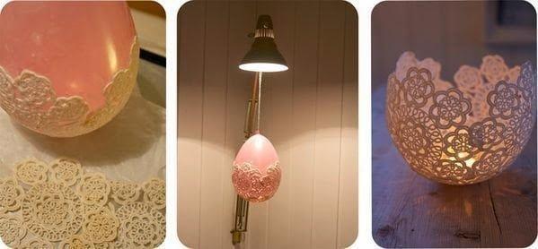 فانوس من الكروشيه باستخدام بالون