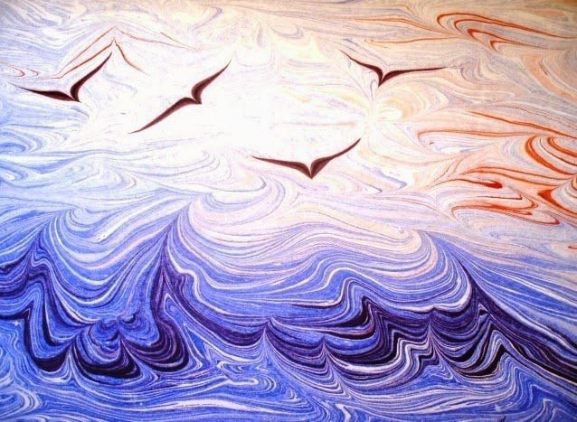 تعرف على الإبرو Ebru أو فن الرسم على الماء ! 6