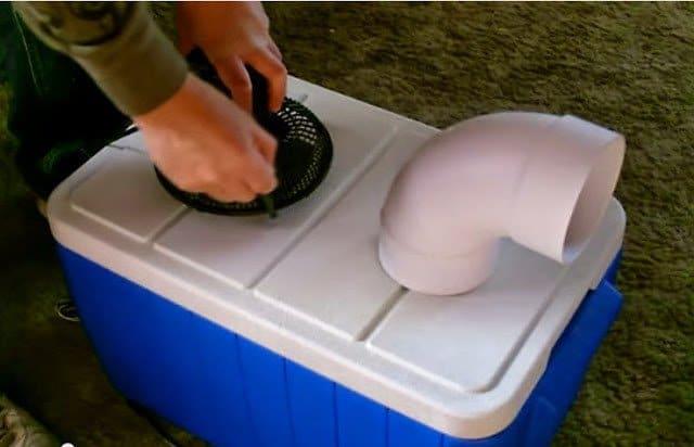اصنع بنفسك مبرد أو مكيف هواء محمول بسيط يعمل بالثلج 1