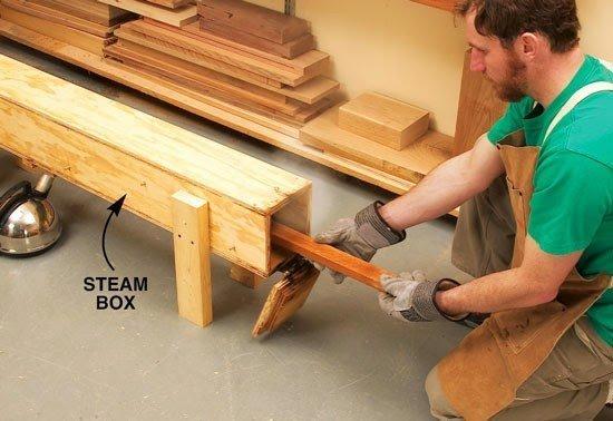 طريقة ثني الخشب