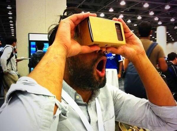 اصنع بنفسك : نظارة جوجل من ورق الكرتون المقوى Google Cardboard 1