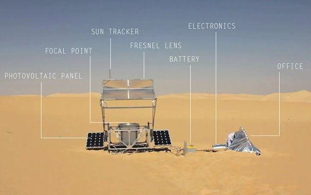 طابعة ثلاثية الأبعاد تحول الرمال إلى زجاج بحرارة الشمس فقط ! 5