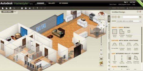 أفضل 12 برنامج و تطبيق مجاني لتصميم و فرش المنازل و المباني 7